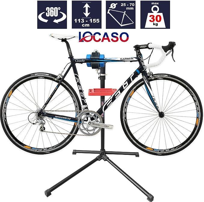 Plegable Giratorio Ajustable para bicicleta ciclo mantenimiento mecánico reparación trabajo soporte rack-bl: Amazon.es: Deportes y aire libre