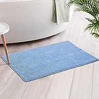 Luxury Chenille Bath Mat Rug, Extra Soft and Absorbent Shaggy Bathroom Rugs, Machine Washable, Non-Slip Plush Carpet…