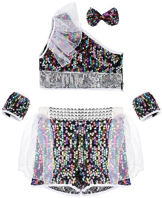 49558c04a977d La vogue Ropa para Niñas Baile Hip-Hop Talla 130 Cintura 22.5cm  Amazon.es   Ropa y accesorios