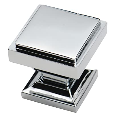 Southern Hills Polished Chrome Square Cabinet Knobs   Pack Of 5   Kitchen  Pulls, Chrome