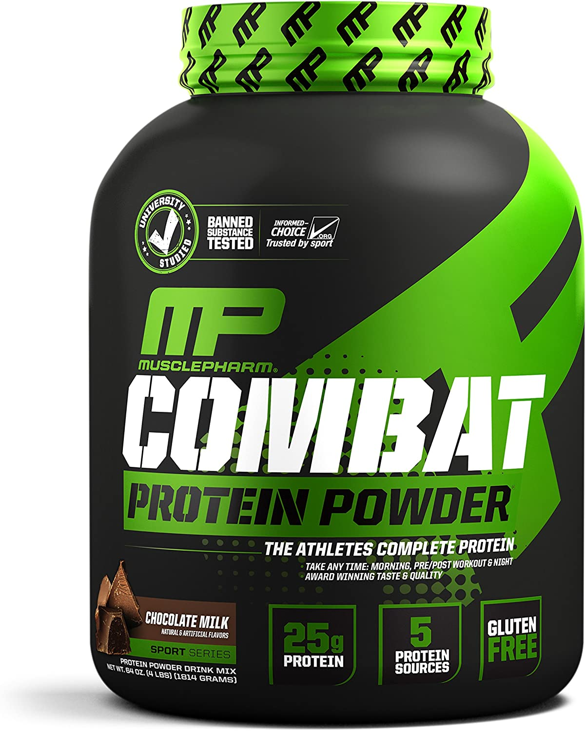 MusclePharm Combat Protein Powder, 5 Protein Blend, Chocolate Milk, 4 Pounds, 52 Servings: Health & Personal Care