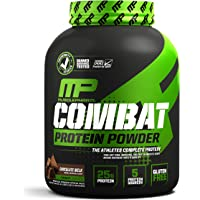 Muscle Pharm Combat Protein Powder, Essential Whey Protein Powder, Chocolate Milk, 4- Pounds, 52 Servings