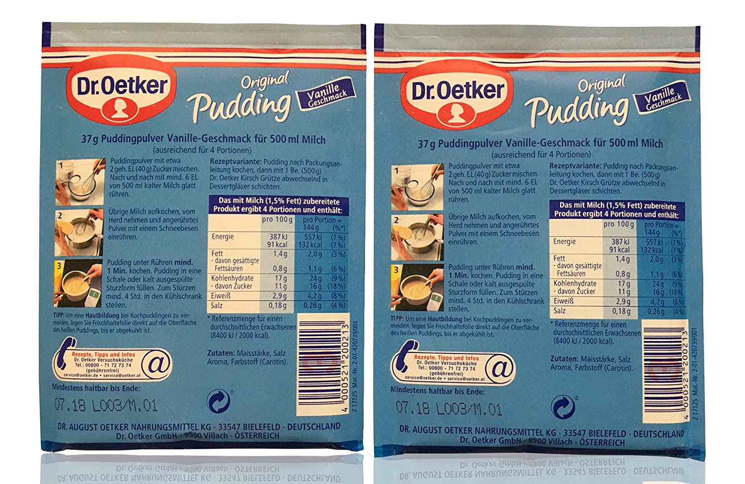 Dr Oetker Vanilla Pudding Mix 6 Pcs Sachets By Helens Own Full