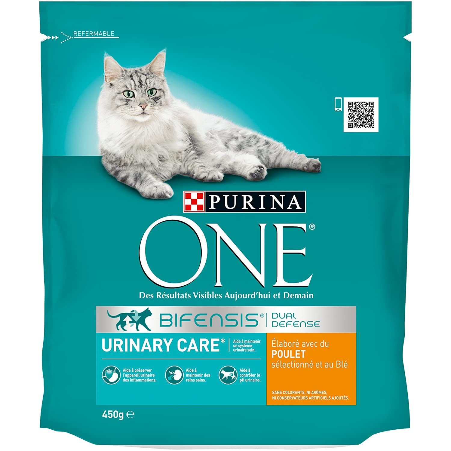 Purina One Urinary Care - au Poulet et au Blé - 450g - Croquettes pour Chat Adulte One Chat PUR771293PCB10