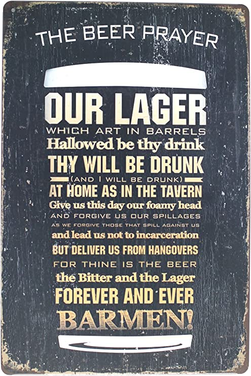 I am not as think as you drunk METAL SIGN funny beer drinking vintage bar decor