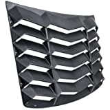 Rear Window Windshiled Louver Sun Shade Cover Matte Black in GT Lambo Style for Chevy Chevrolet Camaro 2016 2017 2018 2019