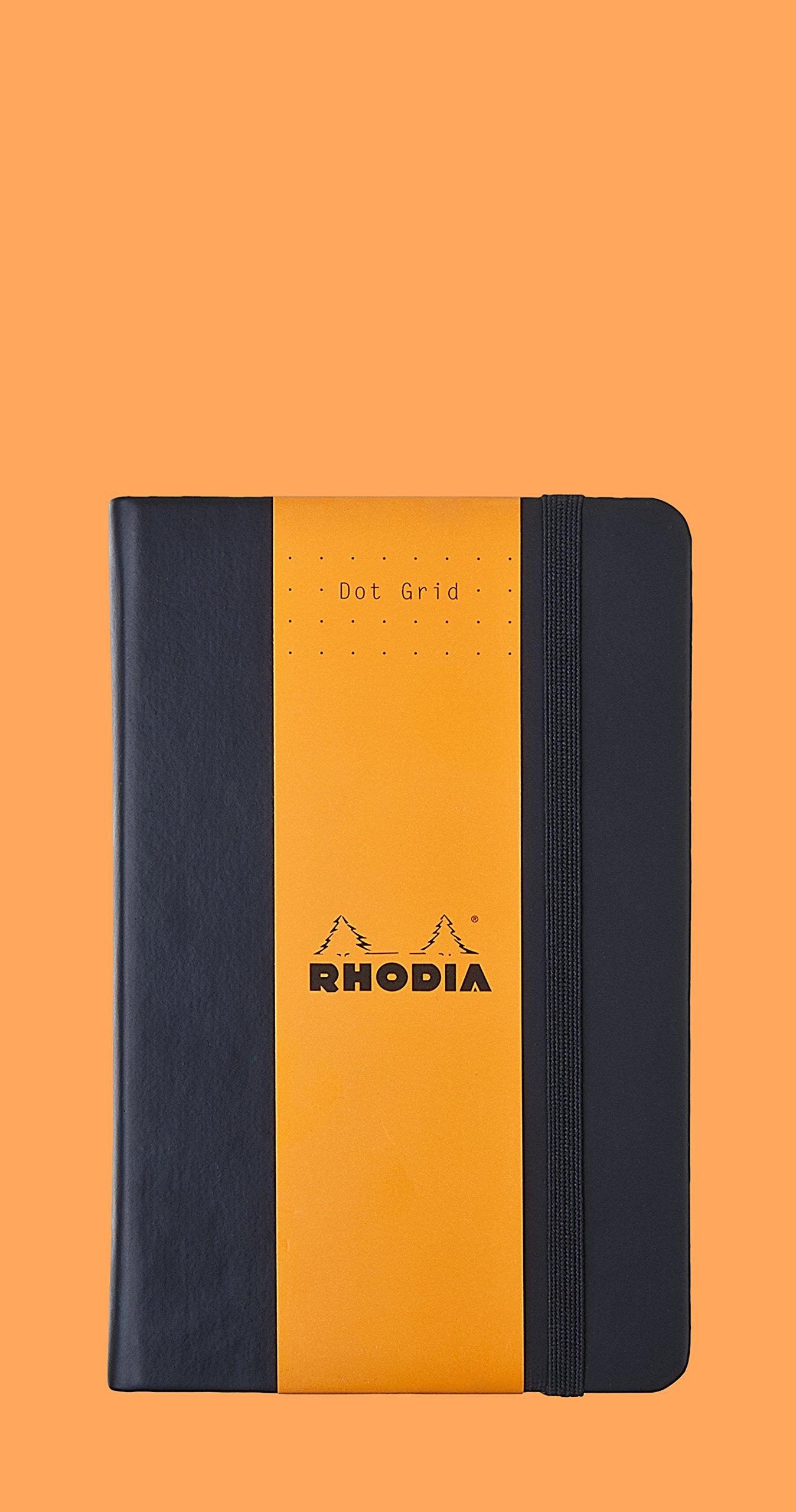 Rhodia Black Webnotebook 3.5X5.5 Dot Grid