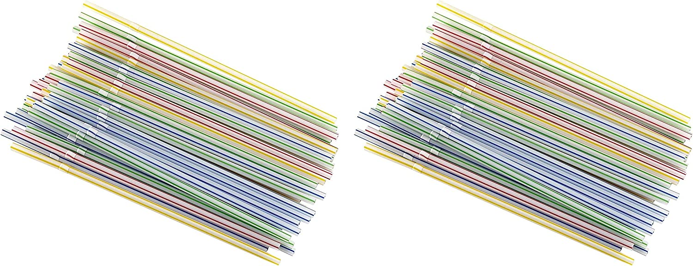 Small Multicolor Bradshaw International Flexible 50ct Good Cook 24992 735343276248 Straws