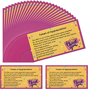 20 Sets Token of Appreciation Cards Motivational Cards Reward Cards Gifts and Copy Coins for Office Coworkers Teacher Appreciation