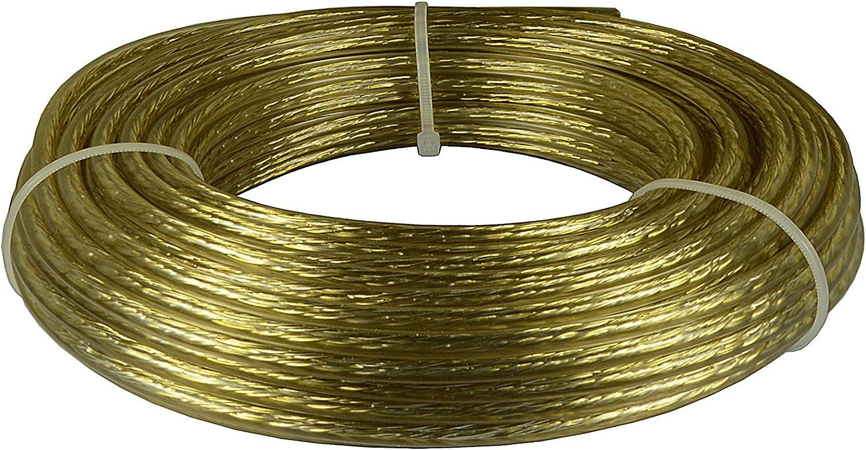 Corderie Italiane 006043607 Cable Tendedero Acero y latón, 6 mm, 20 Mt, transparente: Amazon.es: Bricolaje y herramientas