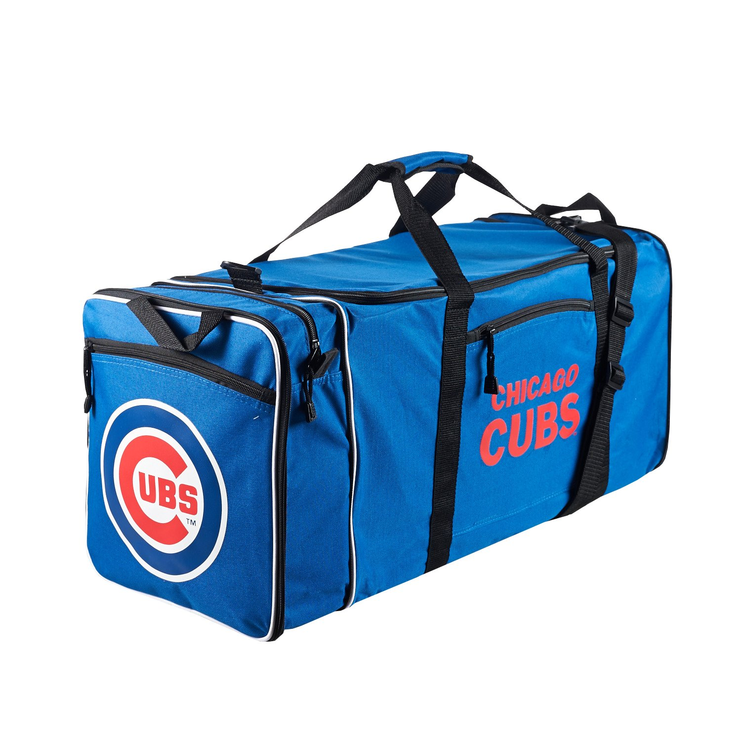 Concept One Accessories Officially Licensed MLB Chicago Cubs Steal Duffel bag, 28'' x 11'' x 12''