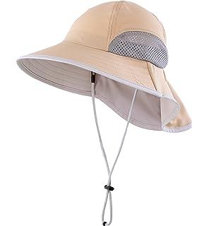 Connectyle Kids Wide Brim Neck Flap Sun Protection Hat Mesh Vent Bucket Sun  Hat 74e98622d271