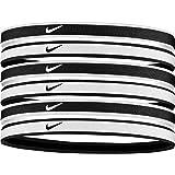 Nike Swoosh Sport Headbands 6 Pack (One Size Fits Most, Black/Grey/White) - Unisex