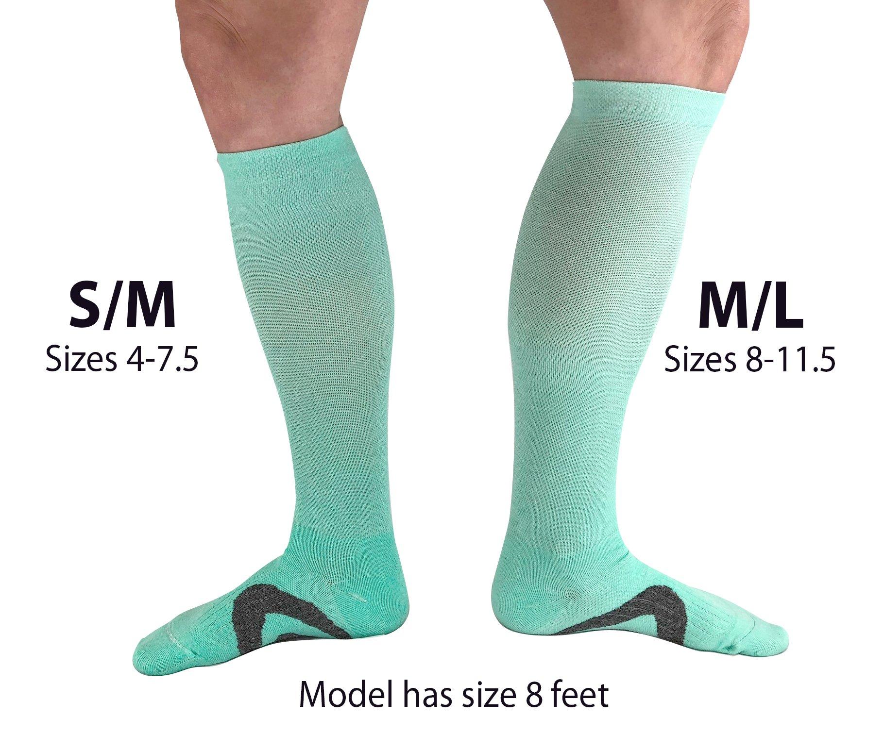 bb83cfa811 Womens Compression Socks | Best for Nurse, Travel, Flights, Maternity,  Pregnancy, Medical and Running | Graduated 15-20 mmHg Knee High Stockings  ...