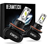 BEAMTECH H13 LED Bulb, 50W 6500K Extremely Brigh (9008) CSP Chips Conversion Kit Fanless Cool White All In One Plug N Play Re