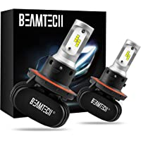 $38 » BEAMTECH H13 LED Bulb, 50W 6500K Extremely Brigh (9008) CSP Chips Conversion Kit Fanless…
