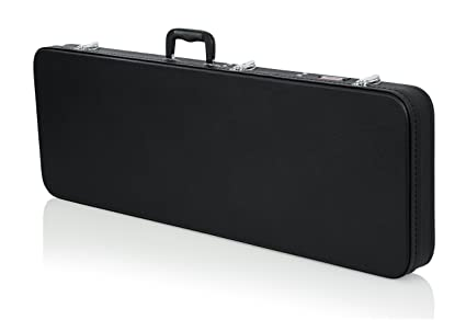 Gator Cases Hard-Shell Wood Case for Standard Electric Guitars; Fits Fender Stratocaster/Telecaster, & More (GWE-ELECTRIC)