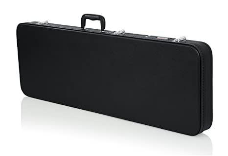 GATOR GWE-ELEC - Estuche para guitarra eléctrica de madera, color negro