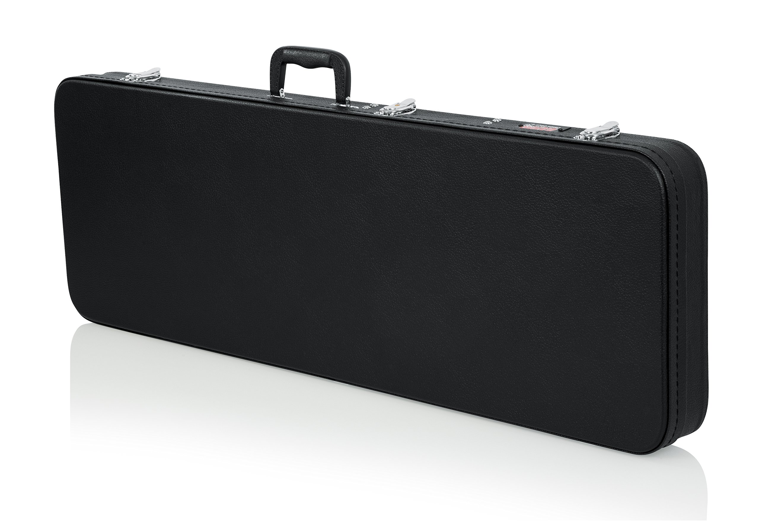 Gator Cases Hard-Shell Wood Case for Standard Electric Guitars; Fits Fender Stratocaster/Telecaster, More (GWE-ELECTRIC)