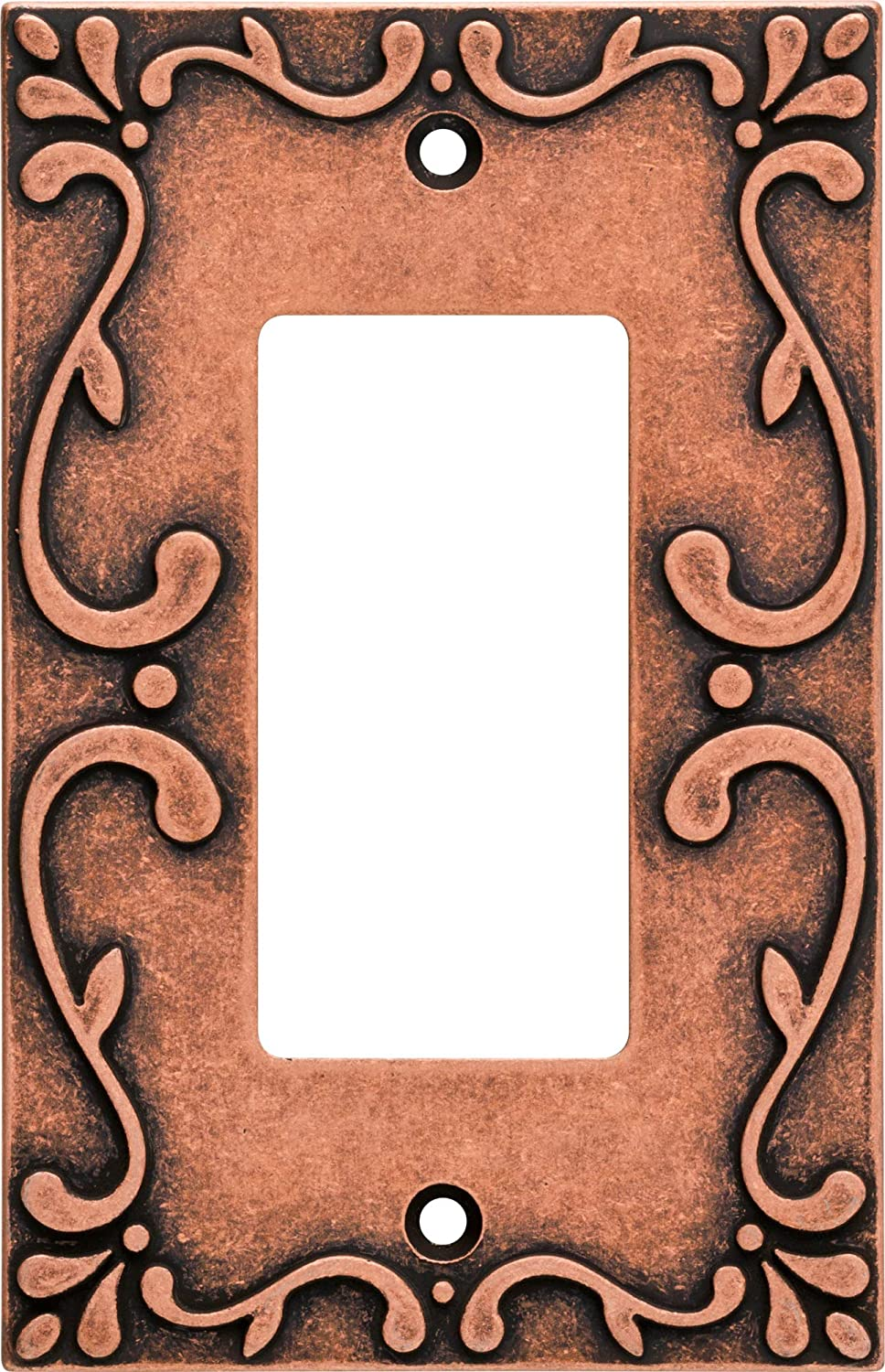 Franklin Brass W35072-CPS-C Classic Lace Single Decorator Wall Plate/Switch Plate/Cover, Sponged Copper