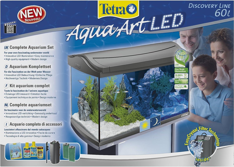 Tetra Acuario Tetra AquaArt LED 60L Set completo 60 L: Amazon.es: Productos para mascotas