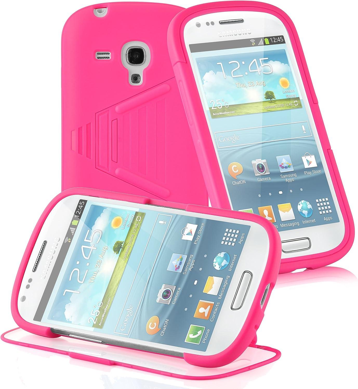 Cadorabo de k-102864–TPU Carcasa de Silicona (Full Body Alrededor de para–También para el Display) para Samsung Galaxy S3Mini (i8190) Color Rosa