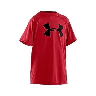 45bf34ab718 Under Armour Boys  Tech Big Logo Short Sleeve T-Shirt  Amazon.co.uk ...
