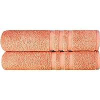 Albeny Sunset - Juego de 2 toallas de mano (50 x 100 cm, 100% algodón turco, suave y resistente, 500 g/m²)