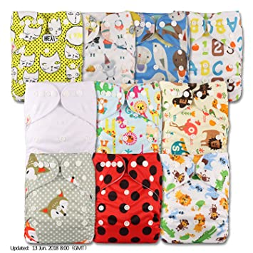 Set of 3 Without Insert Fastener: Popper Reusable Pocket Cloth Nappy Patterns 302 Littles /& Bloomz