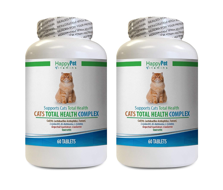 cat Skin and Coat Supplement - cat Urinary Diet - CAT Total Health Complex - cat Vitamin chew - 2 Bottles (120 Treats)