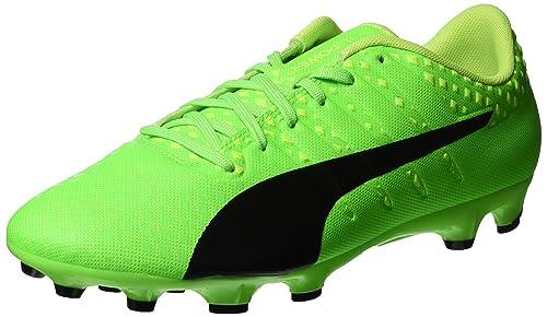 Puma Evopower Vigor 4 AG, Chaussures de Football Homme, Vert (Green Gecko Black-Safety Yellow 01), 44.5 EU