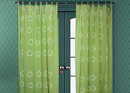 Trade Star - Cortinas de algodón hechas a mano para tratamiento de ventanas, cortina de dormitorio (patrón de 11 x 163 pulgadas): Amazon.es: Hogar