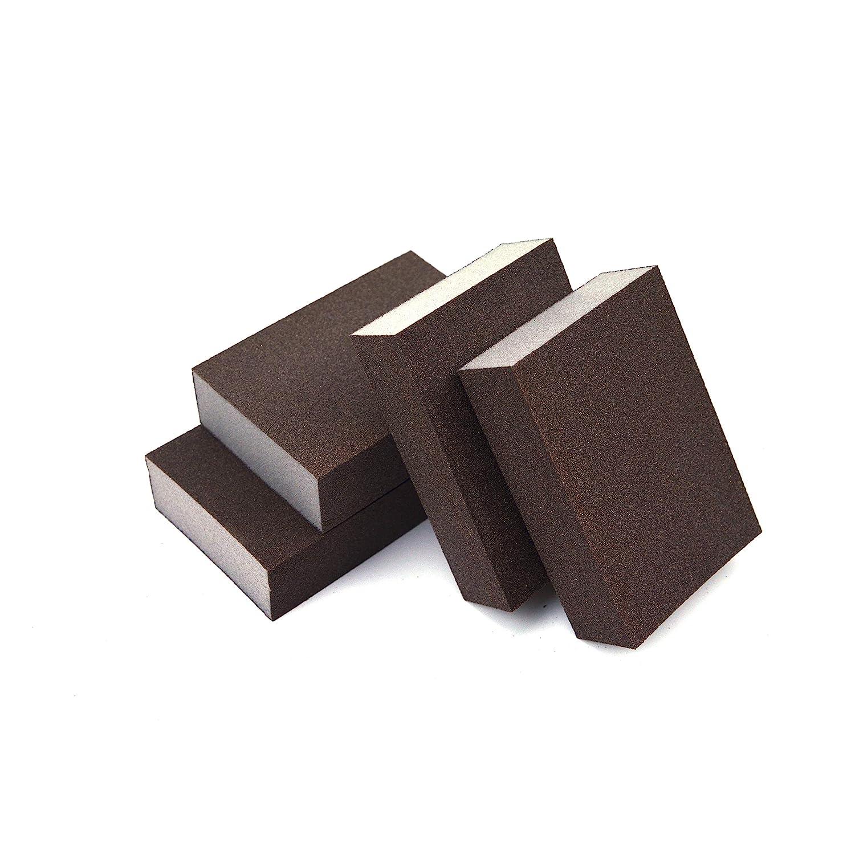 4-Pack 400 Grit Extra Fine Manual Sanding Sponge Sheet Kitchen Polishing Grinding Abrasive Sponge Block 4-Inch