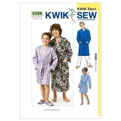 Amazon.com: Kwik Sew K3329 Robes Sewing Pattern, Size XS-S-M-L-XL ...