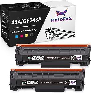 HaloFox Compatible Toner Cartridge Replacement for HP 48A CF248A for HP Laserjet Pro M15w MFP M29w M15a M16a M16w MFP M29a MFP M28a MFP M28w M31 M30 Printer (Black, 2 Pack)