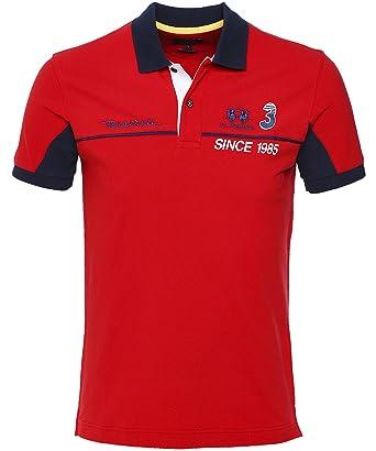 La Martina Hombres Camisa de Polo de Washington Slim Fit Rojo XXL ...