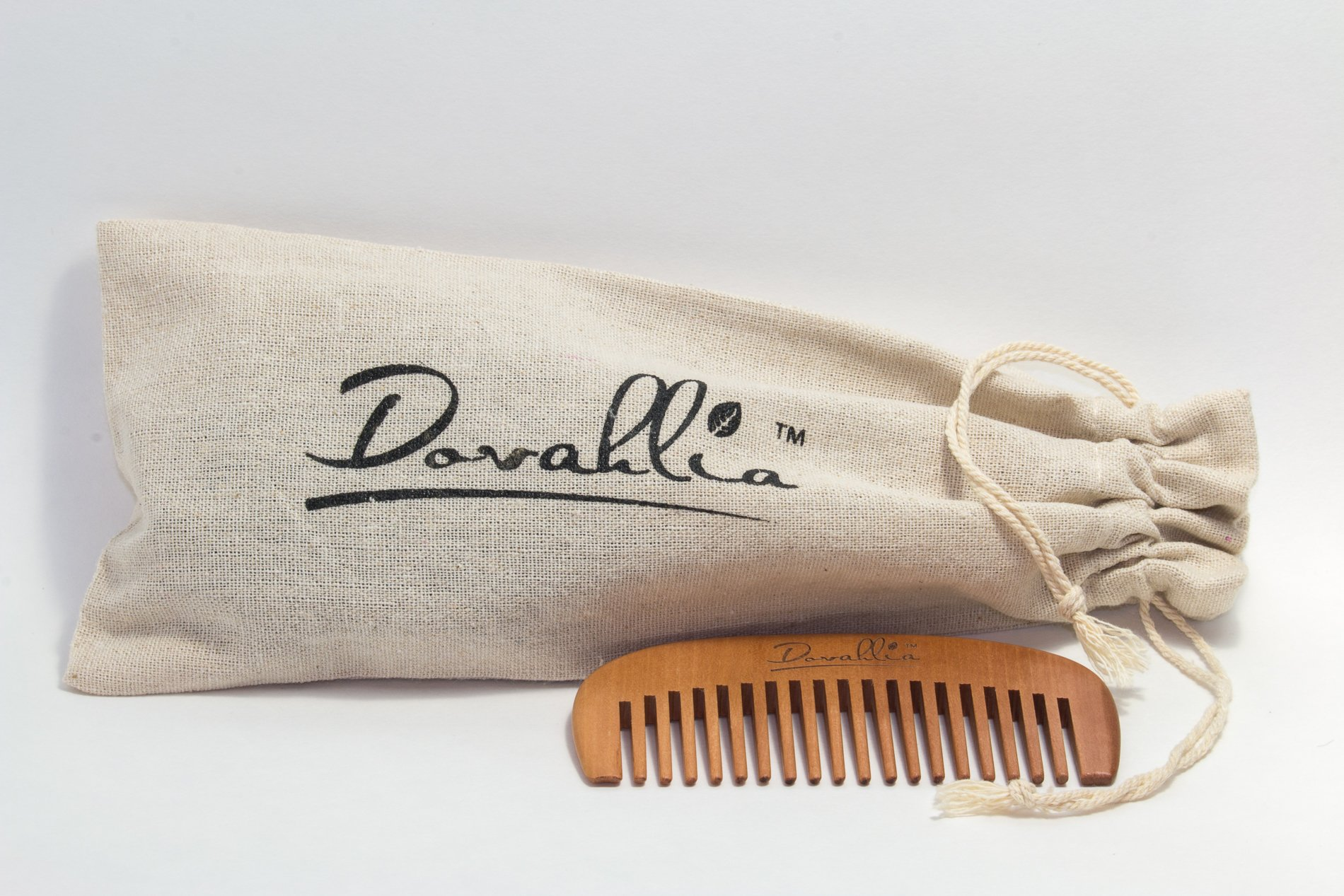 Boar Bristle Hair Brush Set for Women and Men - Designed for Thin and Normal Hair - Adds Shine and Improves Hair Texture - Wood Comb and Gift Bag Included (black) by Dovahlia (Image #2)