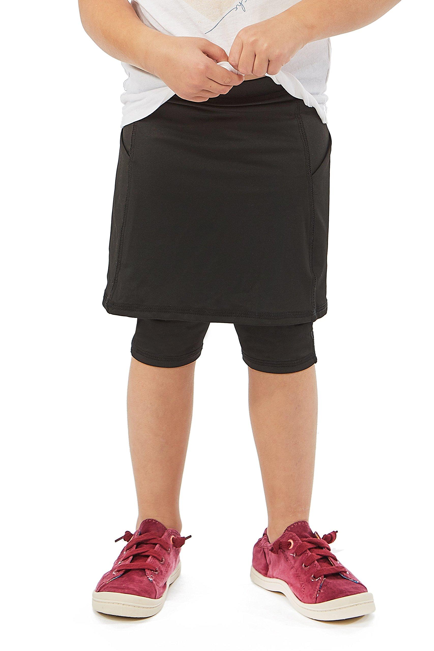 Kids Fit Snoga Active Skirt with Capri Leggings in Black - Girls 12 by Snoga Athletics
