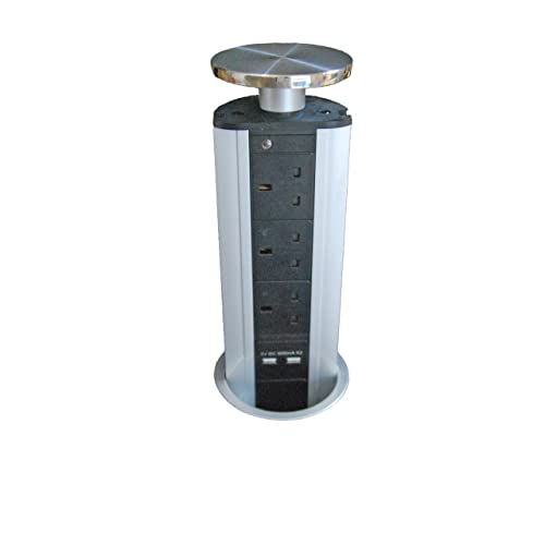 Pop Up Power Pod Unit 3 UK Sockets 2 USB Charge Mains