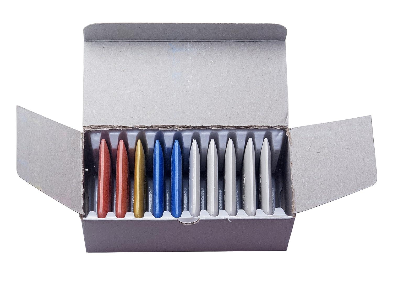1scatola di gessi da sarto (10pezzi) in diversi colori Faden & Nadel