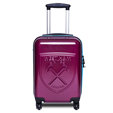 e0ff499aeb84 West Ham FC Cabin Friendly Suitcase - Official Licensed Travel Case  Amazon. co.uk  Luggage