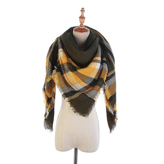 b4f611d24d12 2018 Women s Plaid Tartan Grids Scarf Pashmina Blanket Cozy Wraps Shawl  (Brown)