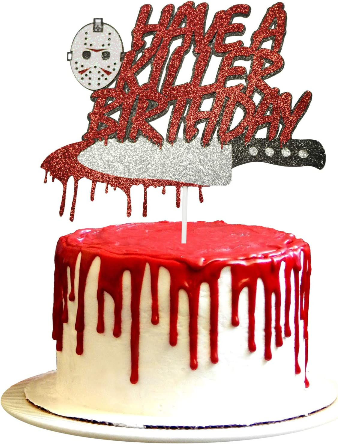 Have A Killer Birthday Cake Topper Halloween Jason Birthday Party Decorations Halloween Birthday Cake Topper Horror Movie Party Supplies Halloween Zombie Vampire Party Decorations