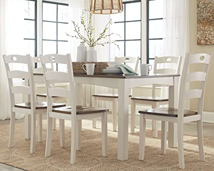 Amazon.com: Ashley Furniture Signature Design - Woodanville Dining ...