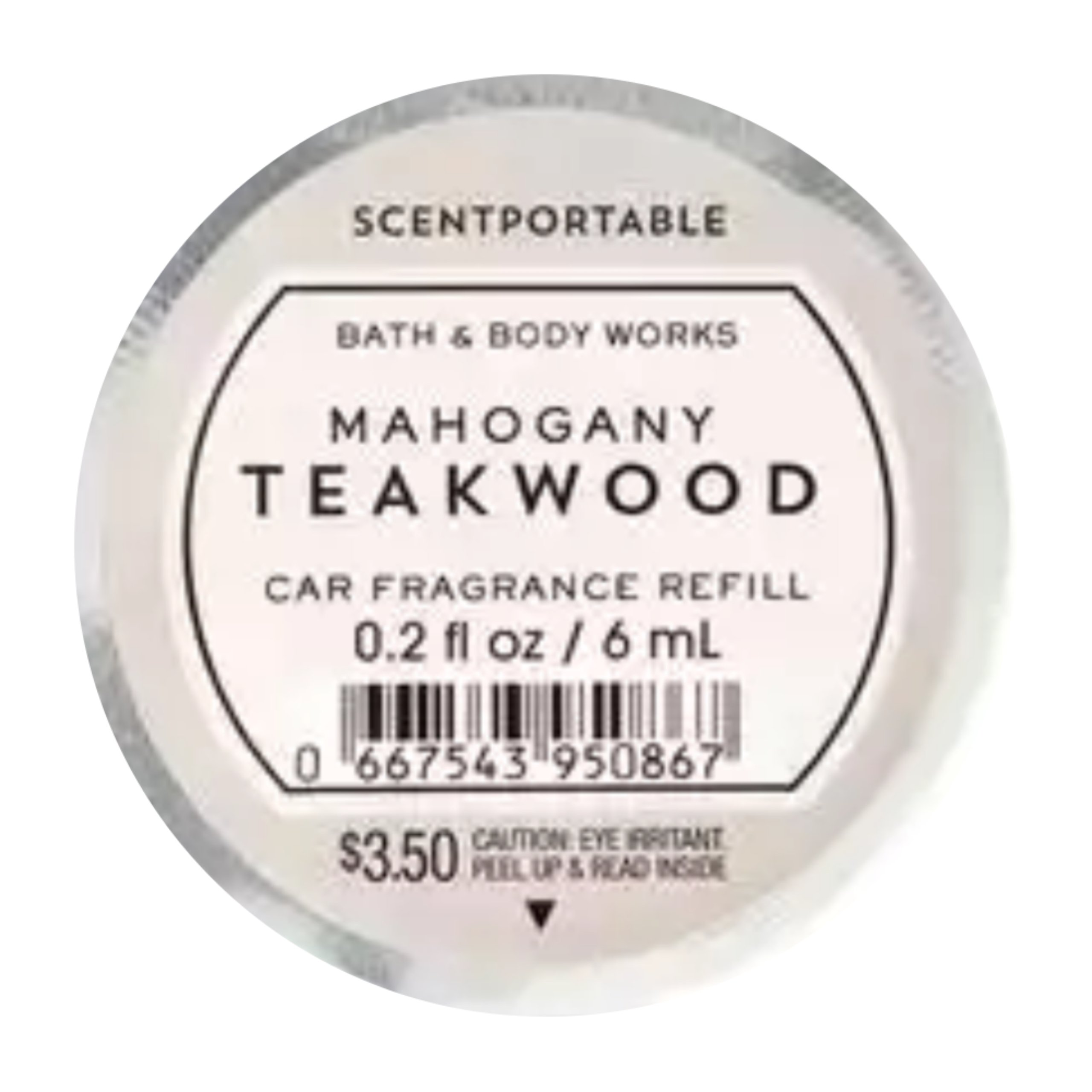 Bath Body Works Scentportable Fragrance Refill Disc Mahogany Teakwood