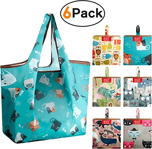 3PCS Canvas Storage Drawstring Bag Animal Print Giraffe Elephant Travel Pouch