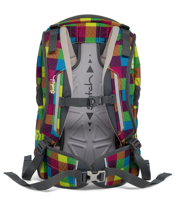 9c9474875605d Satch Sleek Ergobag School Backpack Set 4Â Pcs Beach Leach 2.0Â 901Â Karo  Bunt Gepixelt  Amazon.in  Bags