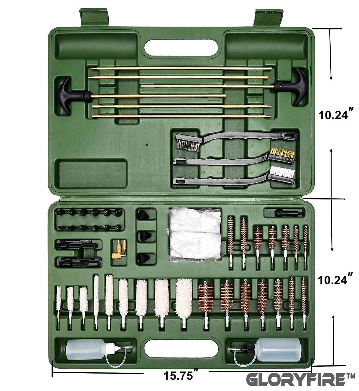 GLORYFIRE Universal Gun Cleaning Kit Hunting Rifle Handgun Shot Gun Cleaning Kit for All Guns with Case Travel Size Portable Metal Brushes by GLORYFIRE (Image #7)