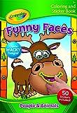 Crayola Funny Faces Color & Sticker Book - People & Animals