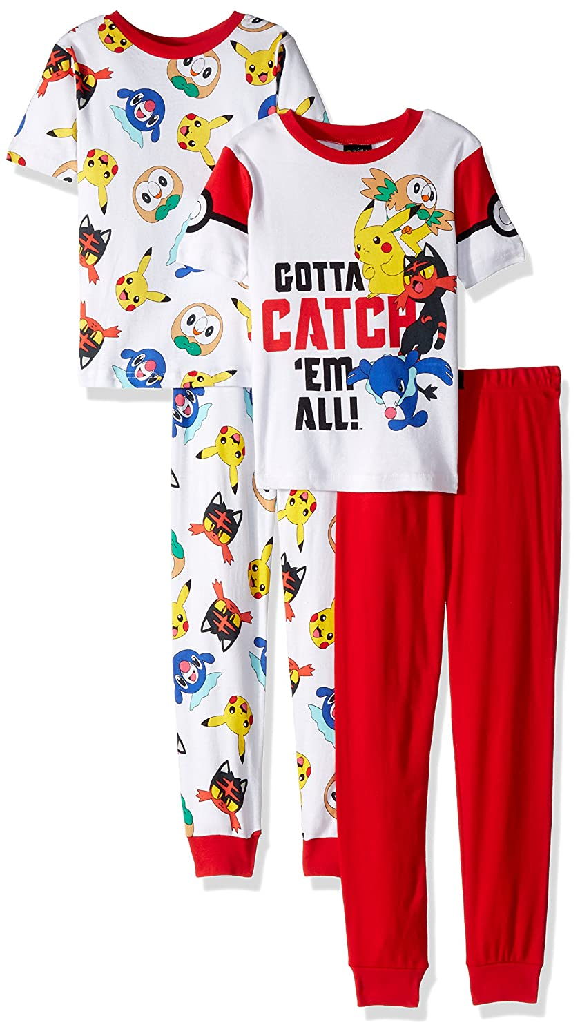 Pokemon Boys Catch 'em All 4-Piece Cotton Pajama Set 21PK126BSLZA-P6
